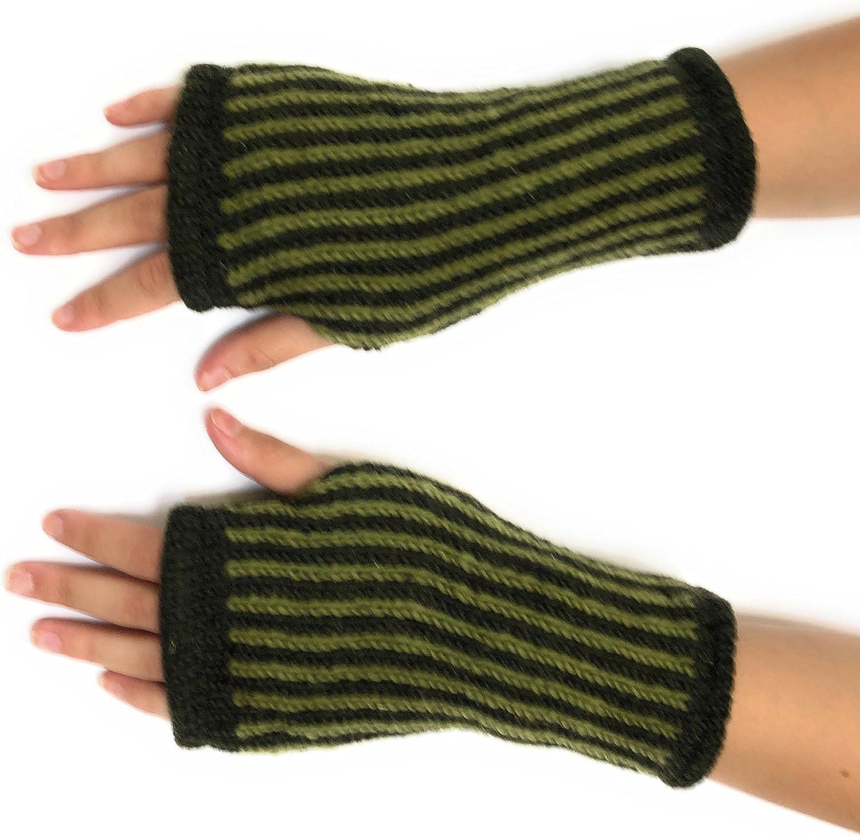 Hand Knit Striped Winter...