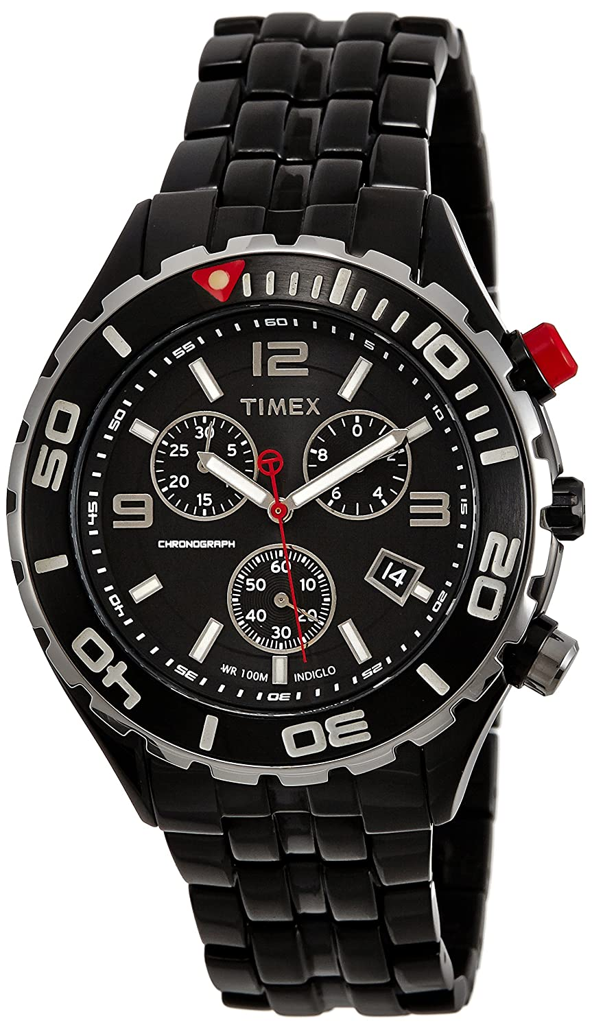 Amazon.com: Timex Mens T2M758 SL Stainless Steel Black Chronograph Watch: Timex: Watches