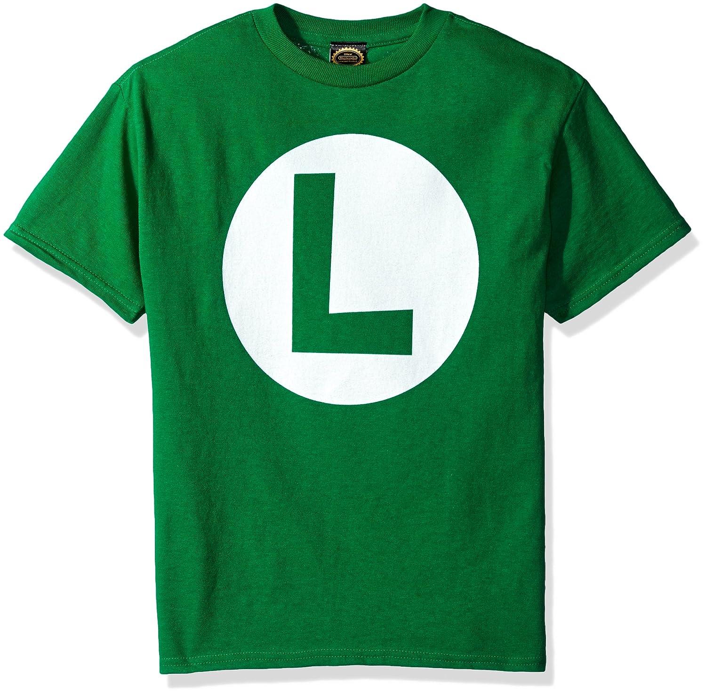 7e6025656 Amazon.com: Nintendo Boys' Luigi Icon Graphic T-shirt: Clothing