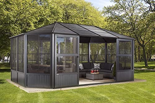 Sojag 12 x 18 Outdoor Charleston Aluminum Solarium Sunroom