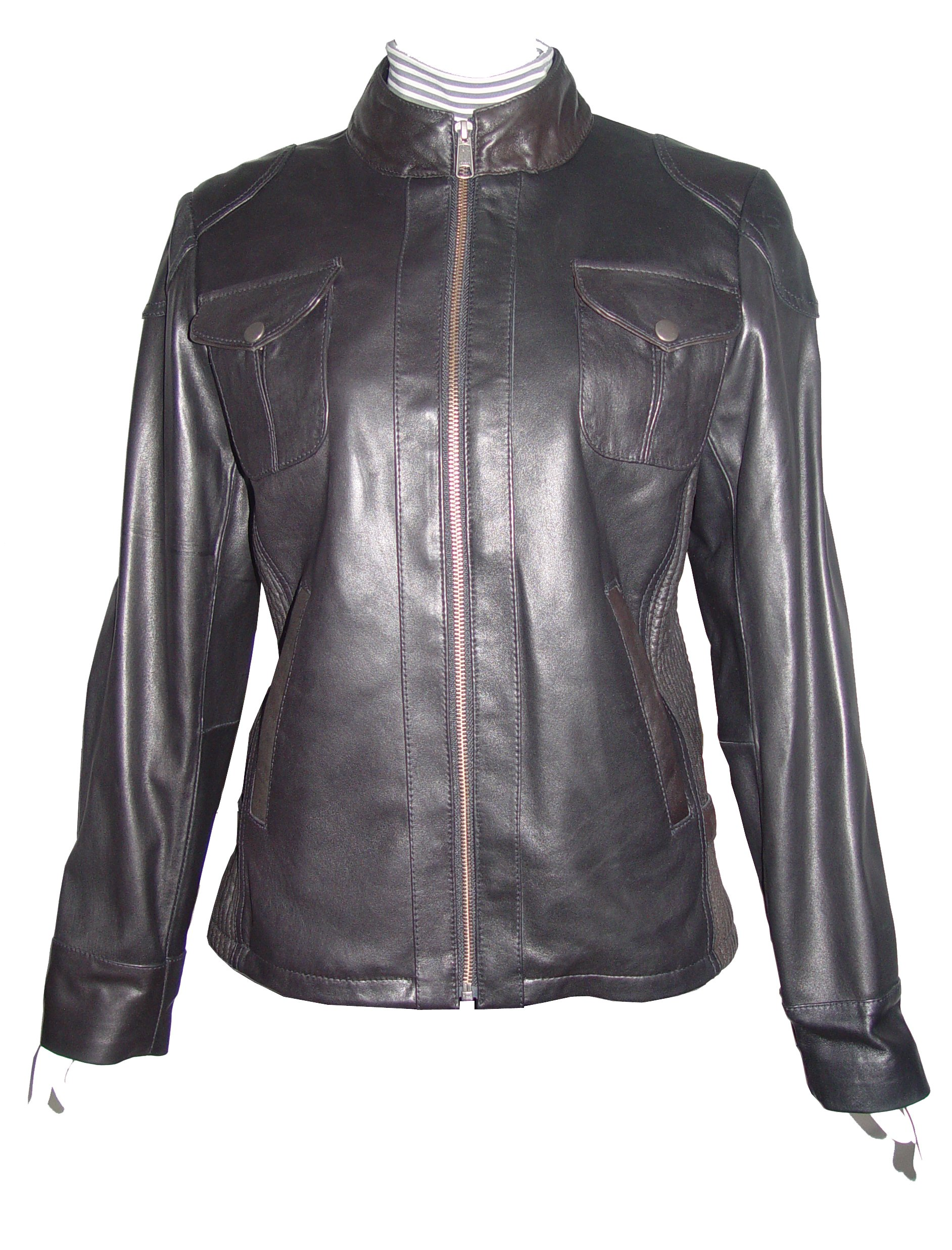 Paccilo Women 4047 PETITE & ALL SIZE Fashion Lamb Leather Motorcycle Jacket