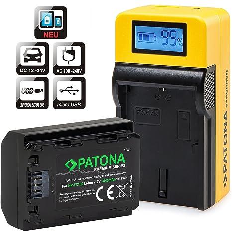 PATONA® Batería recargable para Sony NP DMC-FZ100 y cargador ...