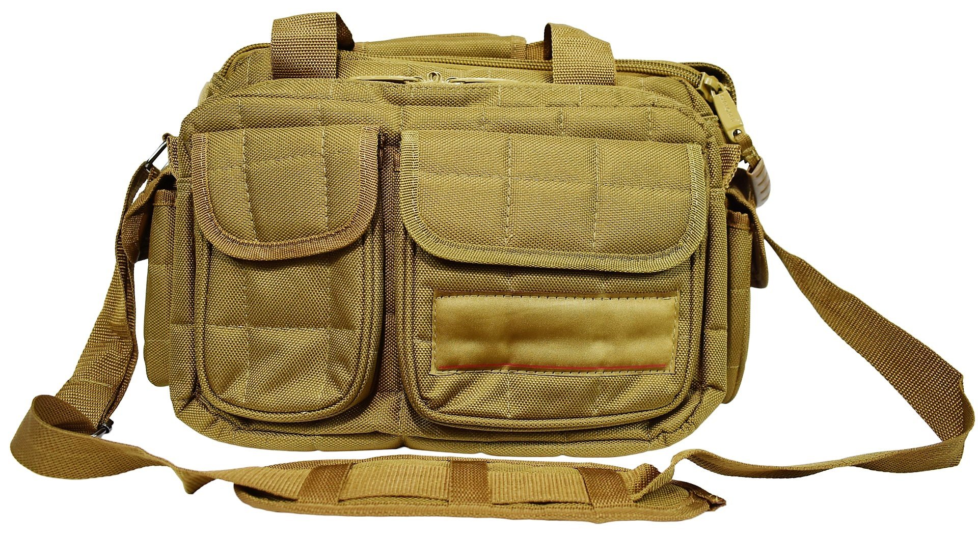 EXPLORER Range Bags Handguns Tactical Gear Shooting Accessories Large 1200 D Gun Bag Waterproof AR Magazine Holders Padded Pistol Cases Ammo Bag (Tan Range Bag) by Explorer