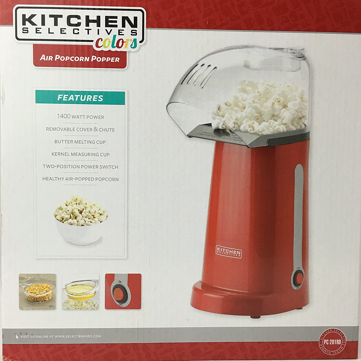 Kitchen Selectives: Kitchen Selectives Air Popcorn Popper Home Garden Dining