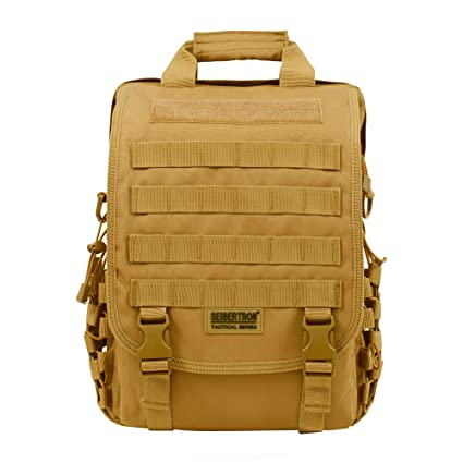 Image Unavailable. Image not available for. Color  Seibertron Waterproof Molle  Tactical 14 quot (inch) Laptop Sling Bag Backpack Khaki 3a80736d61267