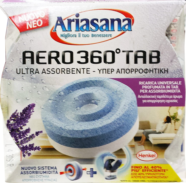 12 x ARIASANA Assorbiumidità Aero 360° Ricarica Lavanda 450 Gr.