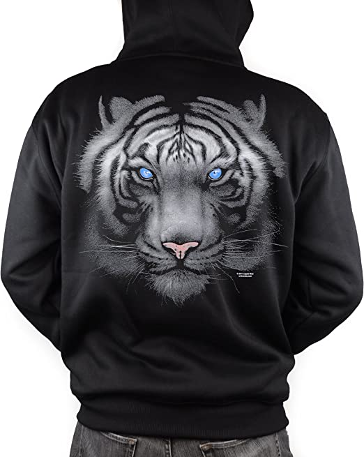White Tiger Zip Up Hoodie INTO THE AM