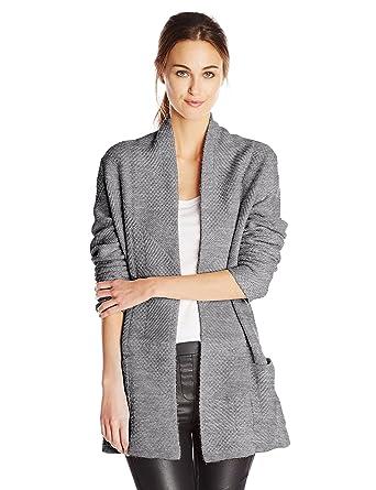 2fb9b85df778c Amazon.com  BCBGMAXAZRIA Women s Ginata Shawl Collar Patch Pocket Cardigan  Sweater