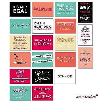 20 Postkarten Mit Coolen Sprüchen Zum Versenden An Ihre Freunde Oder  Einfach Zum Anpinnen