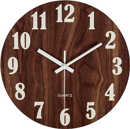 XL ferme Home Decor ronde Horloge murale avec pendule