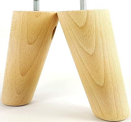 Piedini per mobili in legno 135 mm alta sostituzione mobili