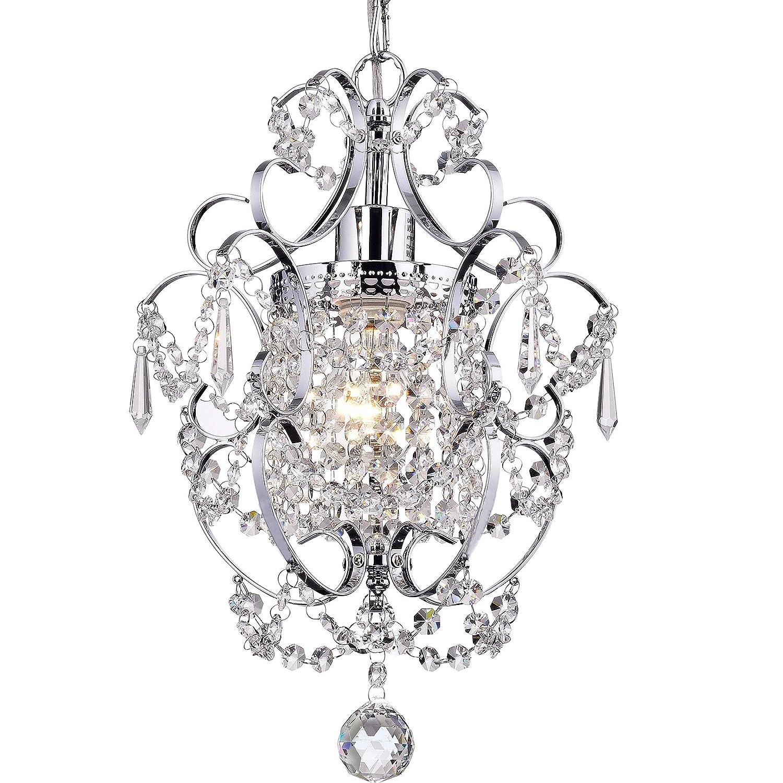 huge selection of da76a 4d383 Crystal Mini Chandelier Lighting 1 Light Chrome Chandeliers Iron Ceiling  Light Fixture 17011