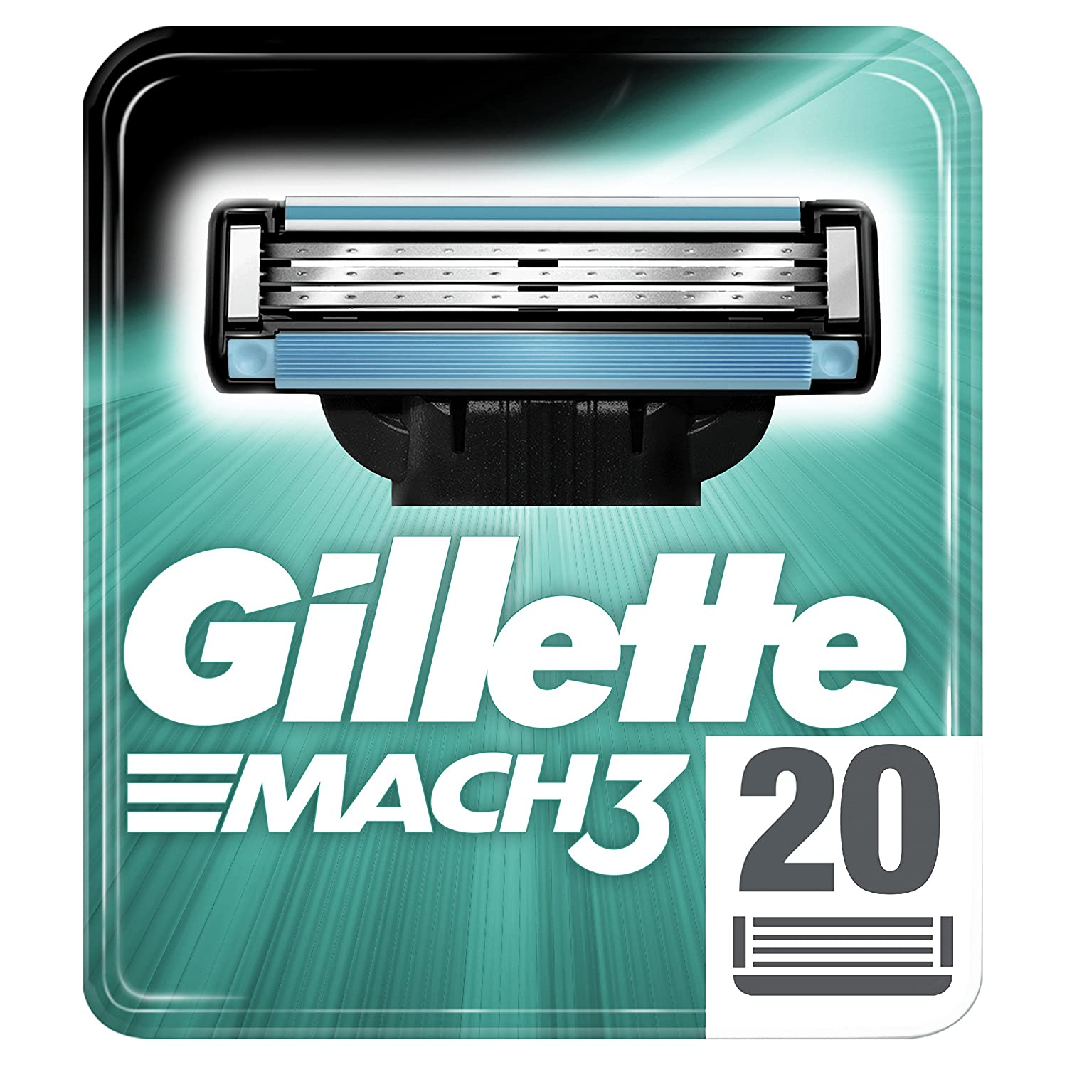 Gillette Mach3 Razor Blades for Men with Stronger-Than-Steel Blades, 8 Refills (Packaging May Vary) 2541274