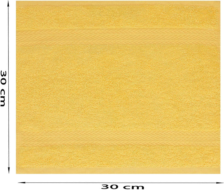 blutorange Betz 10 St/ück Seift/ücher Premium 100/% Baumwolle Gr/ö/ße 30x30 cm Farbe honiggelb