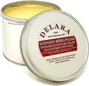 Delara - Cuidado intensivo de los muebles de muy alta calidad con cera de abejas y aceite de coco, 500 ml, incoloro