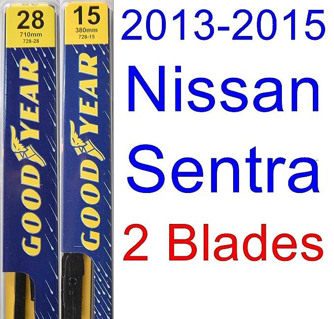 Amazon.com: 2013-2015 Nissan Sentra Replacement Wiper Blade Set/Kit (Set of 2 Blades) (Goodyear Wiper Blades-Premium) (2014): Automotive