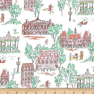Michael Miller Quilt Fabrics Lola Dutch Lola Dutch Around Town Soft White