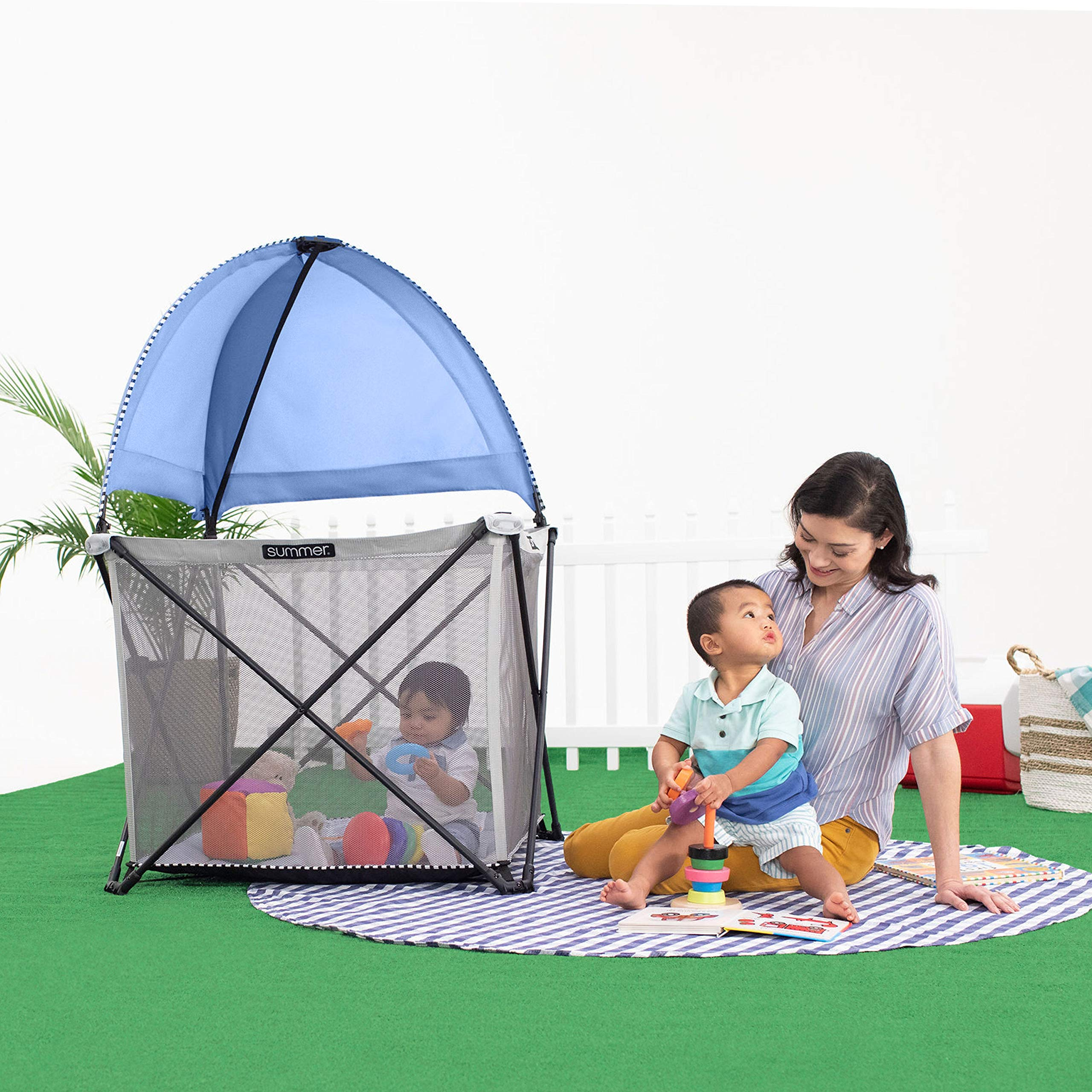 Summer Infant Pop 'n Play SE Cube Playard (Sweetlife Edition), Blue Raspberry, 4-Sided by Summer Infant (Image #9)