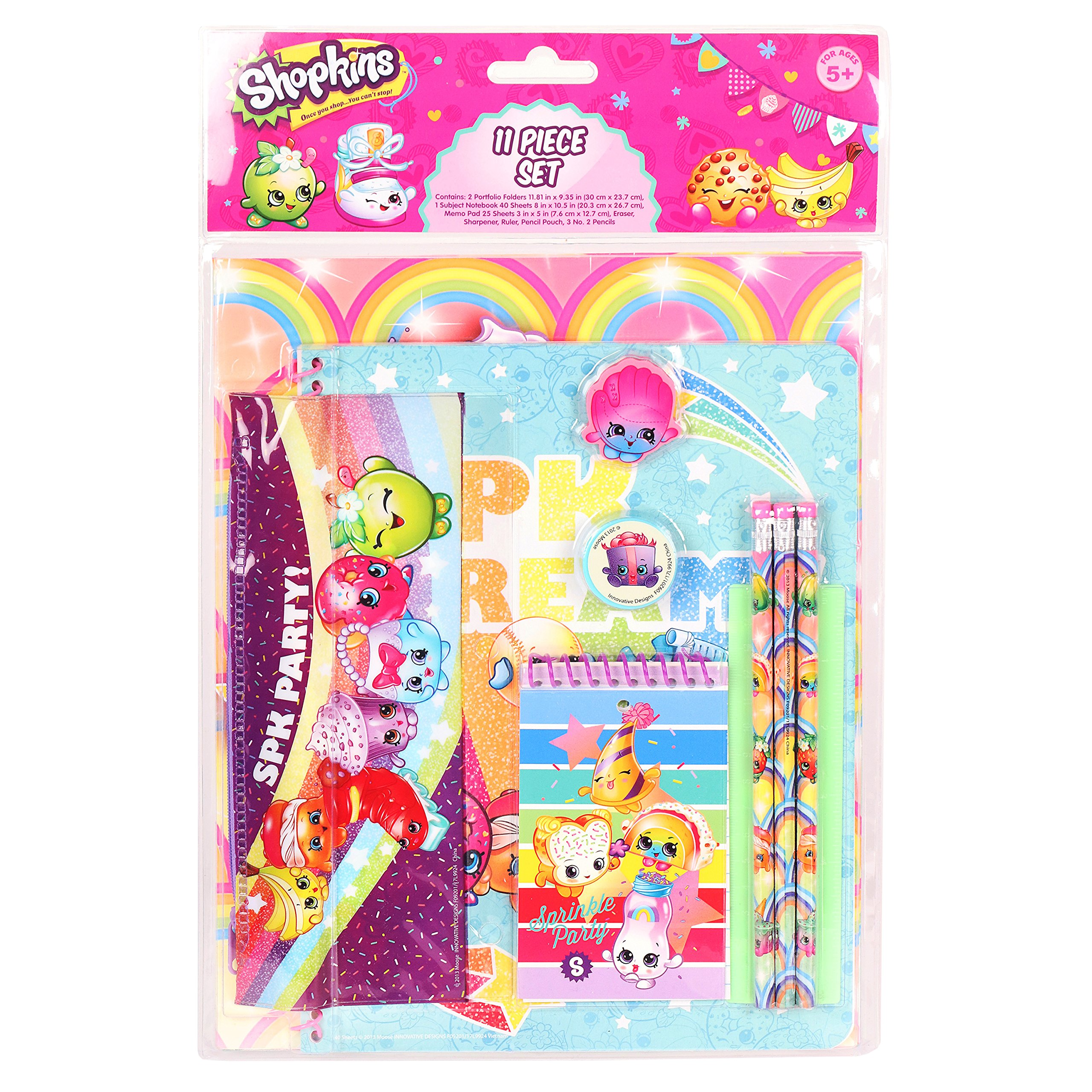 Shopkins Stationery Set School Supplies for Girls / 11 Pieces