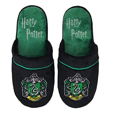 e7c29937e3a Groovy Harry Potter Slytherin Mule Slippers Size UK 5-7  Amazon.co.uk  Shoes    Bags