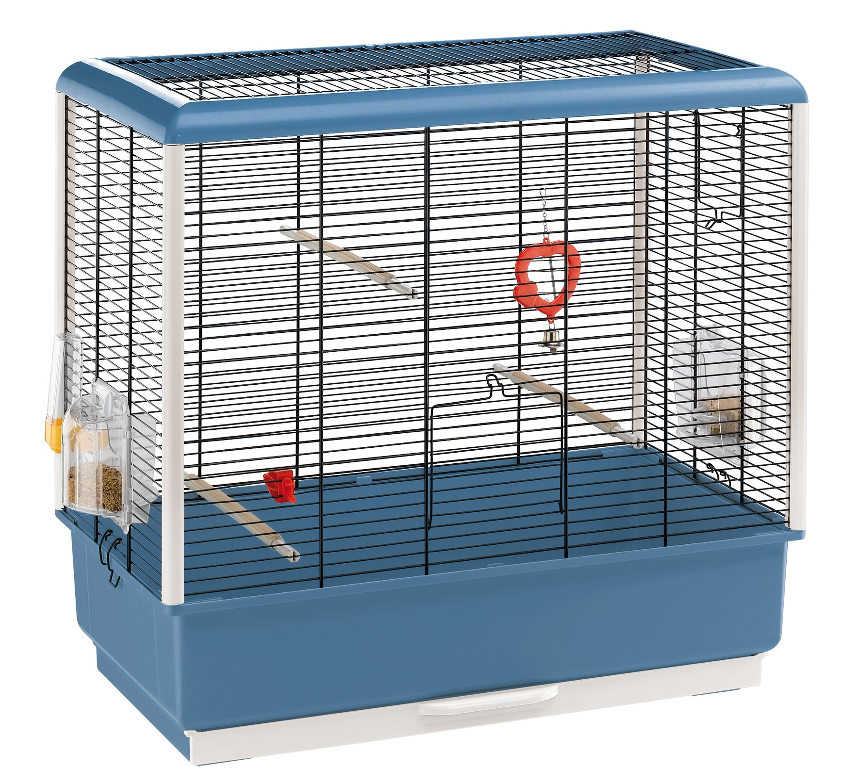 Ferplast Piano 4 Canary and Small Exotic Bird Cage, Blue by Ferplast