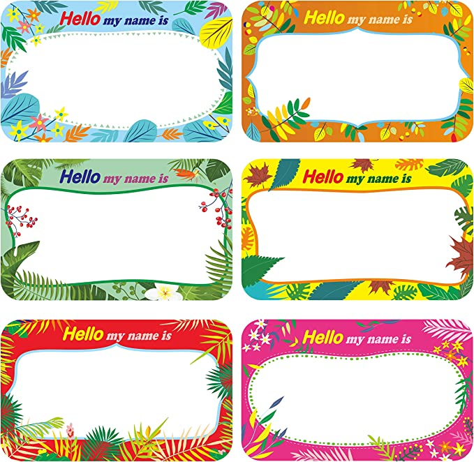 Home Can Be Used on Clothes Office Storage Boxes Updated Stronger Stickiness Cualfec 300 Cute Dot Name Tag Stickers Colorful Border Name Labels for School Packages