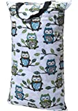 Wegreeco Reusable Hanging Wet Dry Cloth Diaper Bag(Owl stand on tree)