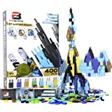 Pinblock Starter Pack ''Space'' - Creative Smart Building Set for Boys and Girls with 400 Interlocking and Rotating Blocks, 3-in-1 Manual Included