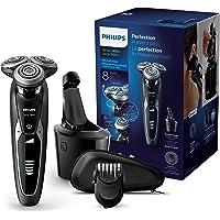 Philips Serie 9000 S9531/31 - Afeitadora eléctrica para hombre rotativa, estación de limpieza smart clean, recortador de barba, estuche de viaje, Negro