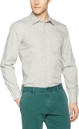 dockers Camisa Hombre Laundered Poplin Crema M: Amazon.es: Ropa y accesorios