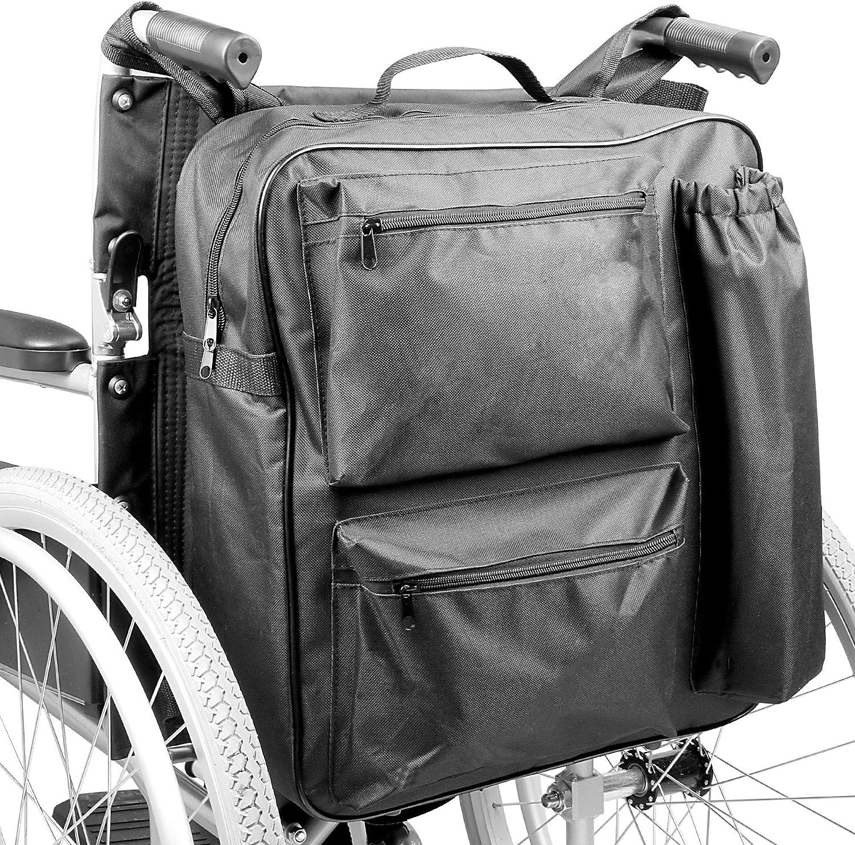Bolsa de ruedas multifunción   Mochila universal Scooter de movilidad   Acolchado Trasero Multi - Bolsillo Almacenamiento de alta calidad impermeable   Pukkr