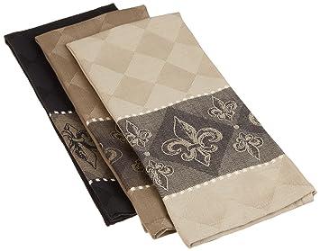 DII Cotton Jacquard Dish Towels, 20x28u0026quot; Set Of 3, Decorative Tea Towels  For