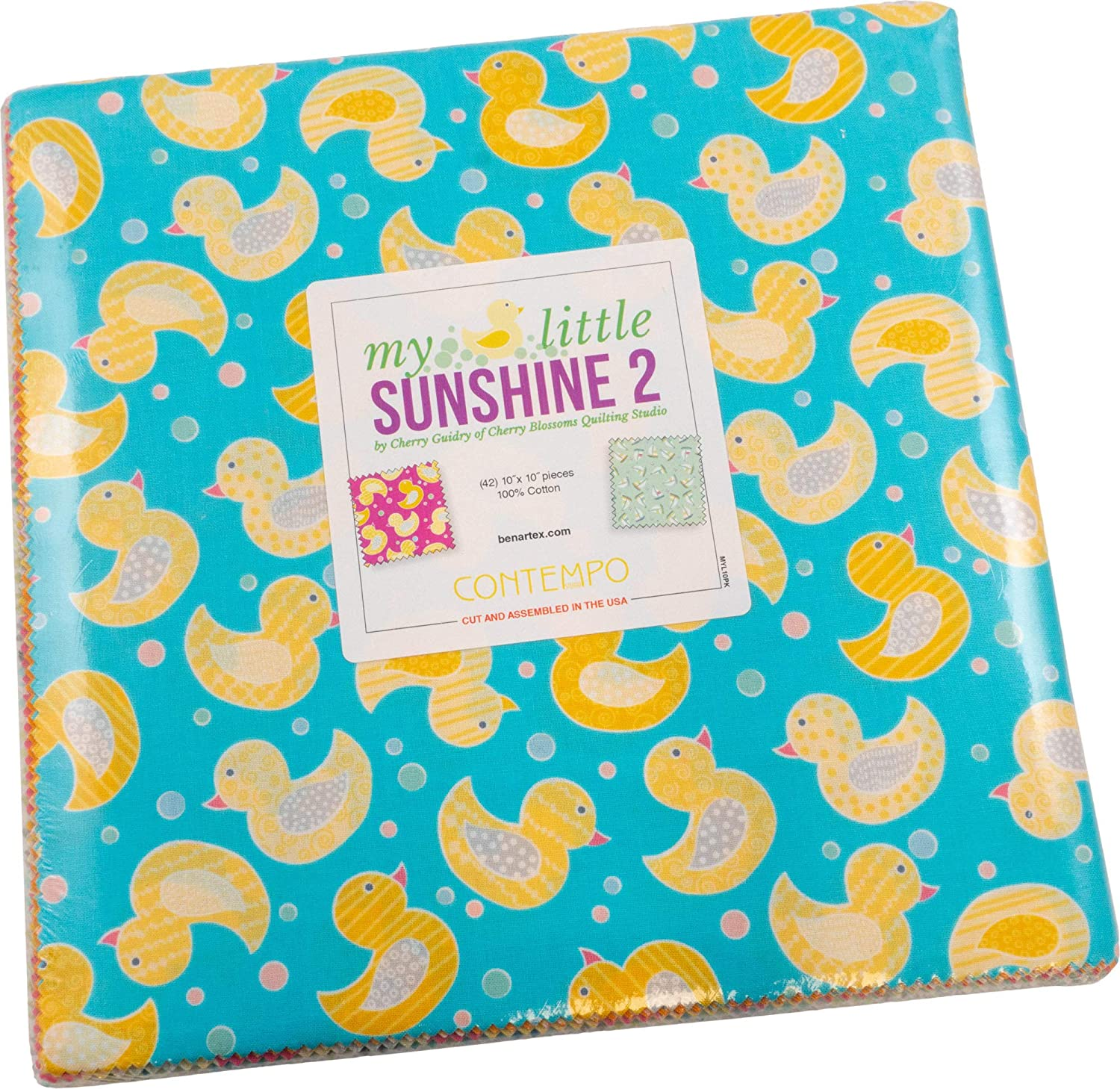 Cherry Guidry My Little Sunshine 2 10X10 Pack 42 10-inch Squares Layer Cake Benartex
