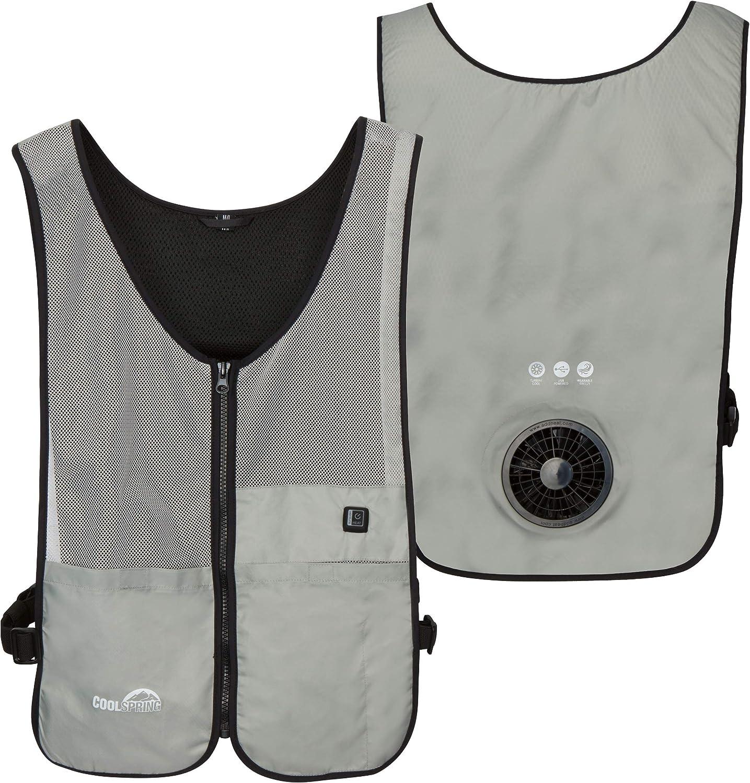 Venture Heat Wearable Fan Vest, 3 Speed Control - Air Circulation Battery Powered Portable Cooling Shirt, WindTech Pro