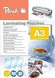 Pochettes brillantes Peach A3, 125 mich, PP525-01, 100 pièces