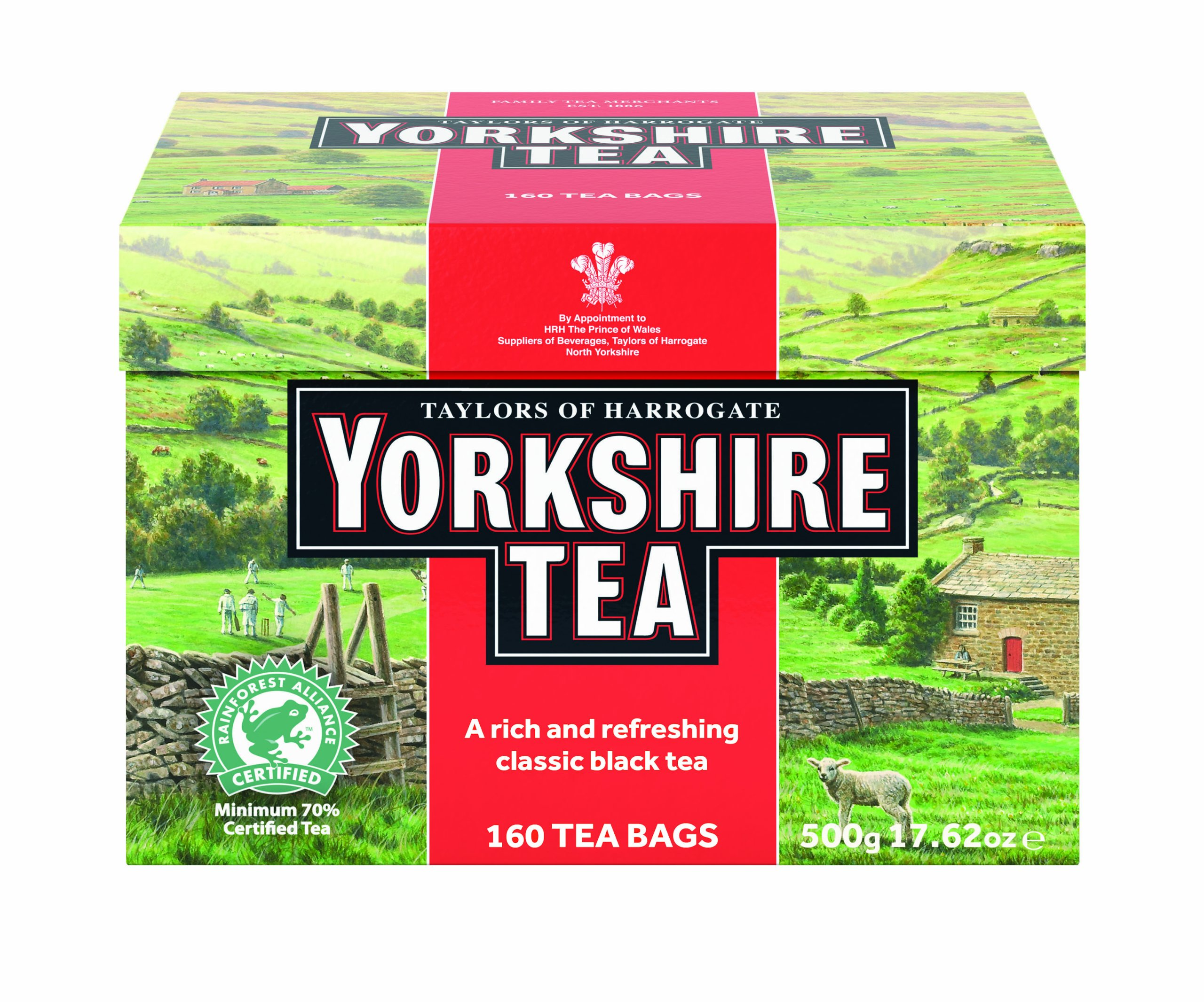 Taylors of Harrogate Yorkshire Red, 160 Teabags, (Pack of 6)