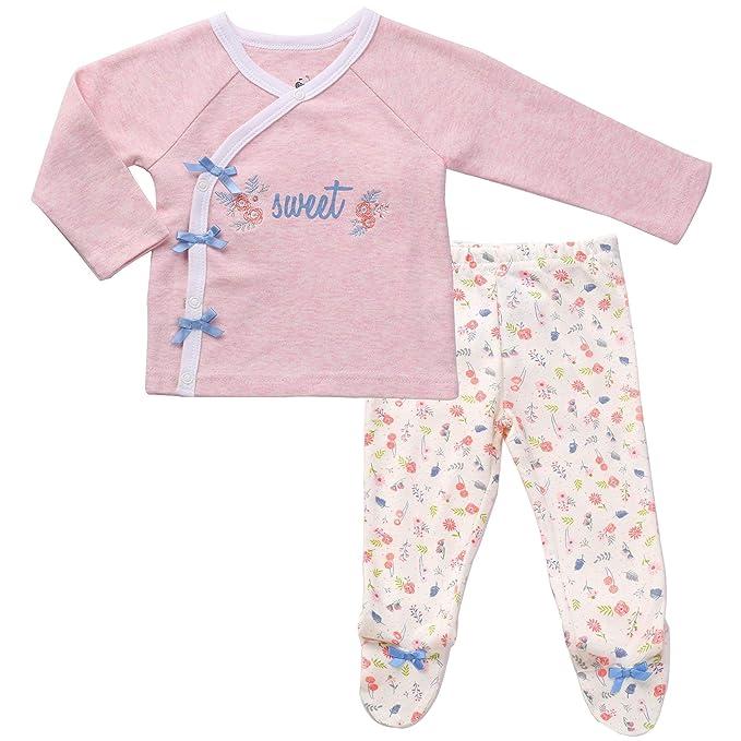 7a7ba20274d4 Amazon.com  Asher   Olivia Footed Pants Long Sleeve Kimono Shirt 2 ...