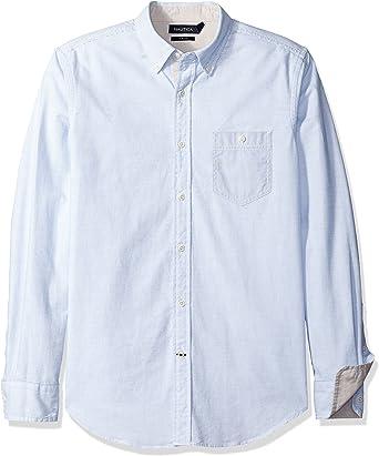 Nautica Oxford Slim Fit Camisa Casual para Hombre: Amazon.es: Ropa y accesorios