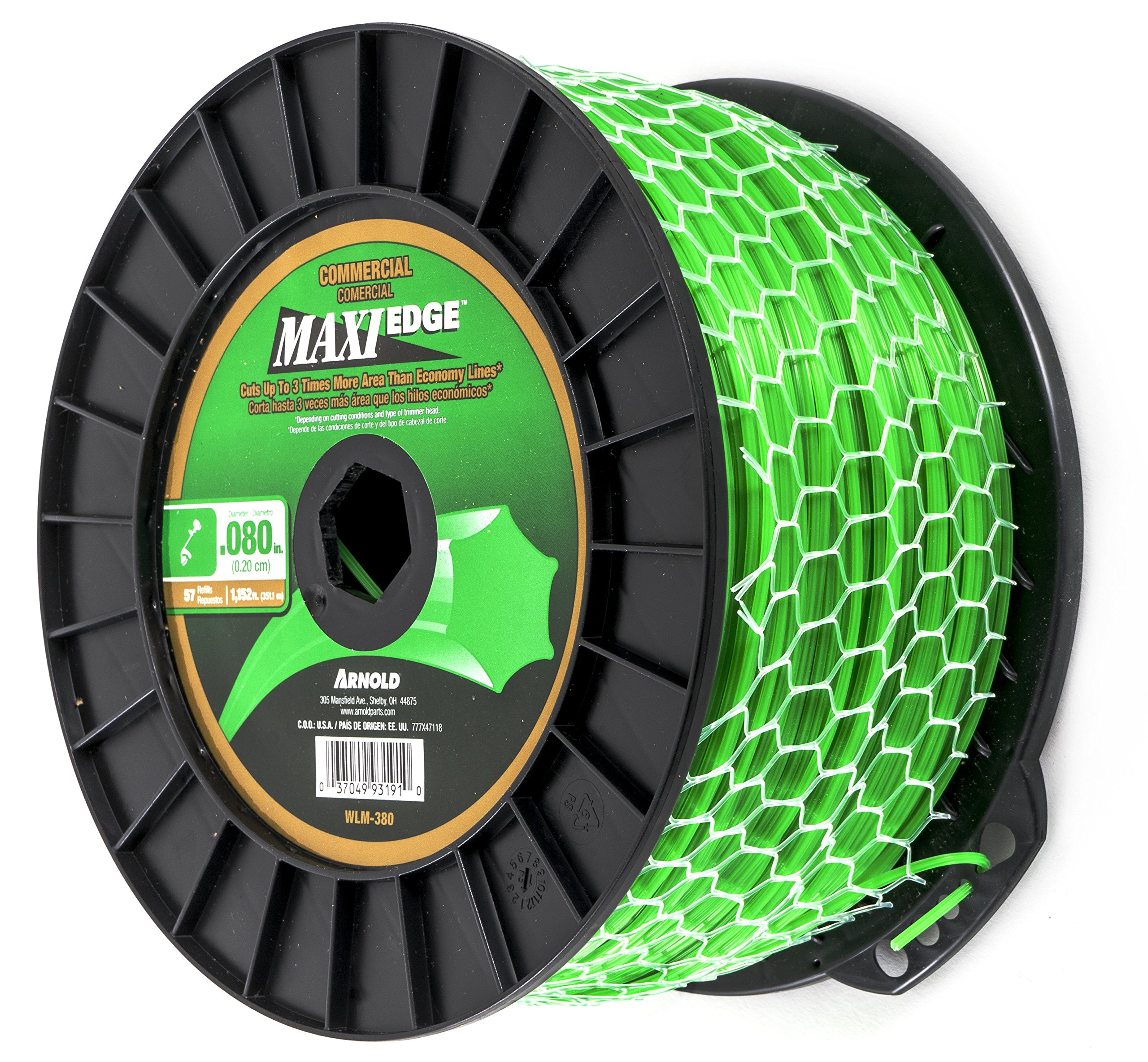 Arnold Maxi-Edge .080-Inch x 1,152-Foot Commercial Grade String Trimmer Line