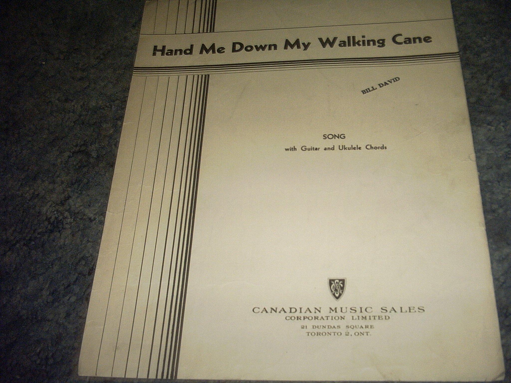 Amazon Hand Me Down My Walking Cane Sheet Music Guitar And