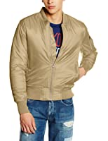 Urban Classics Herren Jacke - Basic Bomber Jacket, Bomberjacke mit aufgesetzter Tasche und Zipper am Arm (formstabile & elastische Bomber Jacke)