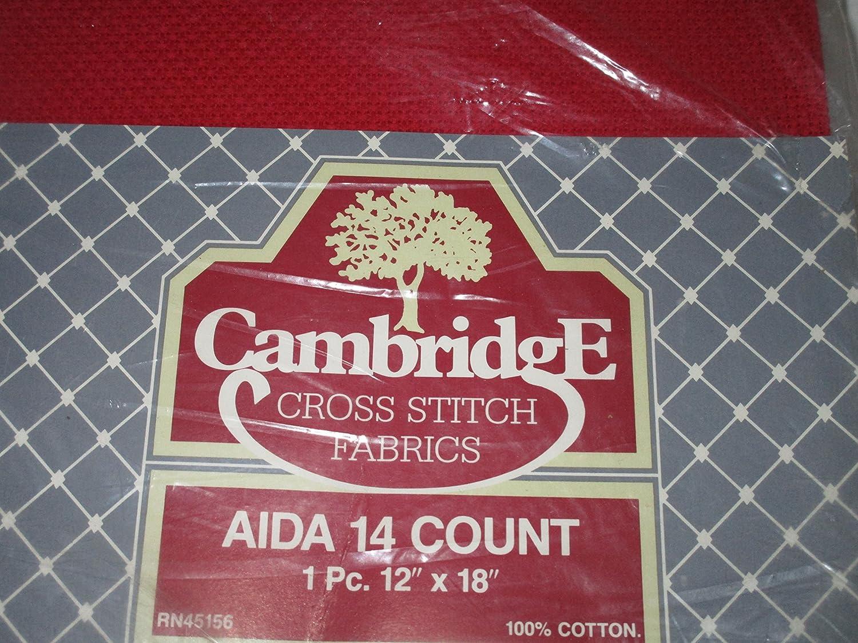 Red Aida 14 Count Cross Stitch Fabric ... 1 pc 12' x 18' Cambridge