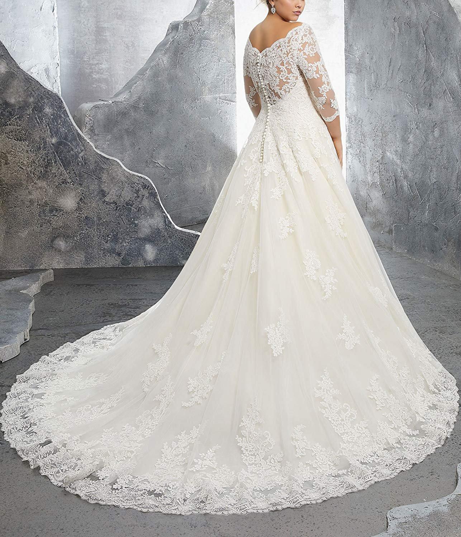 Women's Plus Size Bridal Ball Gown Vintage Lace Wedding