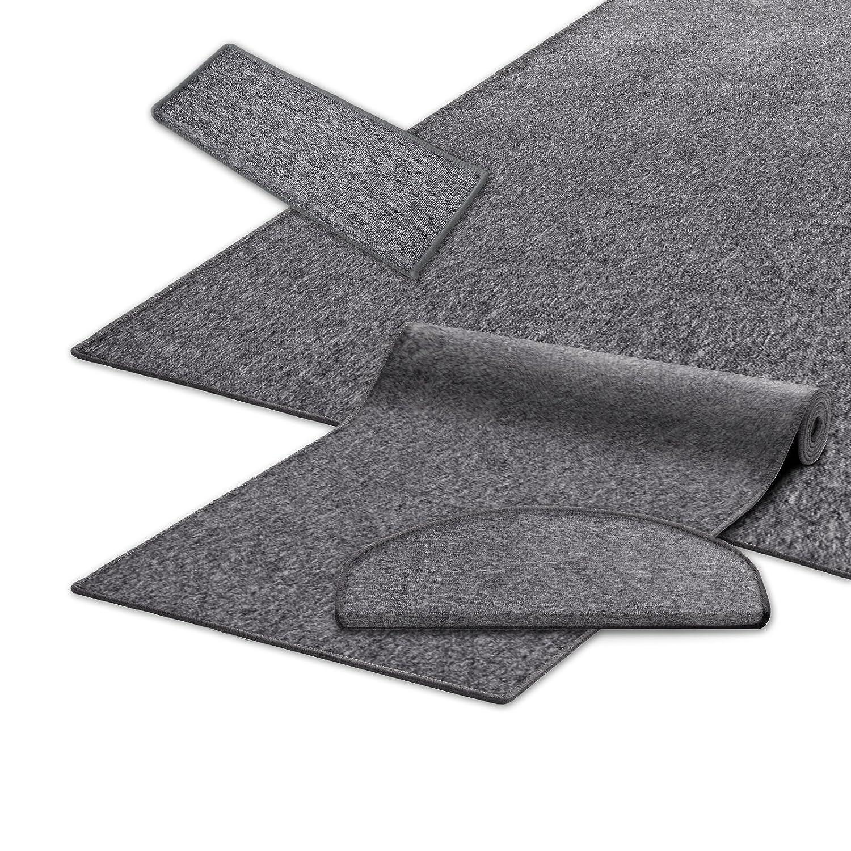Casa pura® Teppich Teppich Teppich Läufer in zahlreichen Größen   grau   GUT-Siegel   Qualitätsprodukt aus Deutschland   kombinierbar mit Stufenmatten (Größe  400x200 cm) B01ENKC0NW Teppiche e4a77e