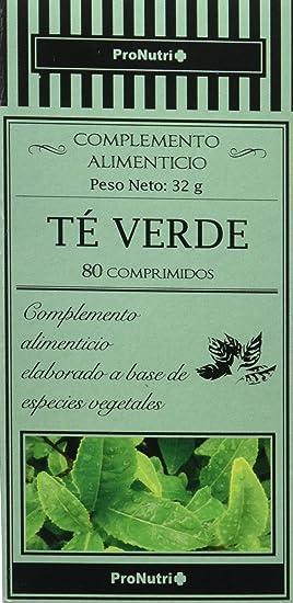 PRONUTRI - PRONUTRI Té Verde 80 comprimidos: Amazon.es: Salud y cuidado personal