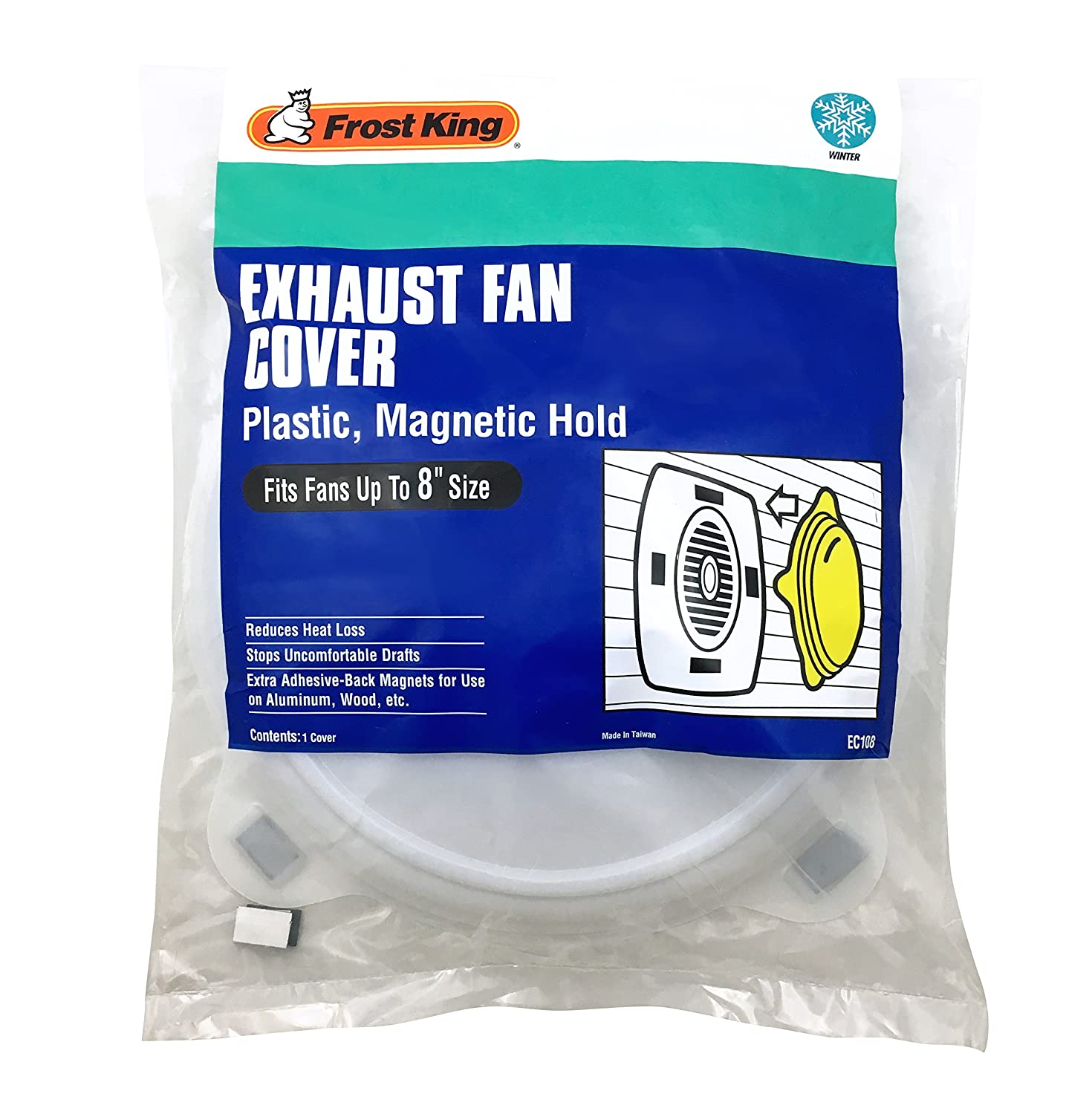 Kitchen exhaust fan cover - Thermwell Products Ec108 Plastic Exhaust Fan Cover Magnetic Exhaust Fan Covers Amazon Com