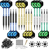 CyeeLife 18 Packs Soft tip Darts Set 18g,100 Tips+Tool+18 Alu shafts+18 Flights+24 Protectors+25 Rubber Rings+Ring Tool,Profe