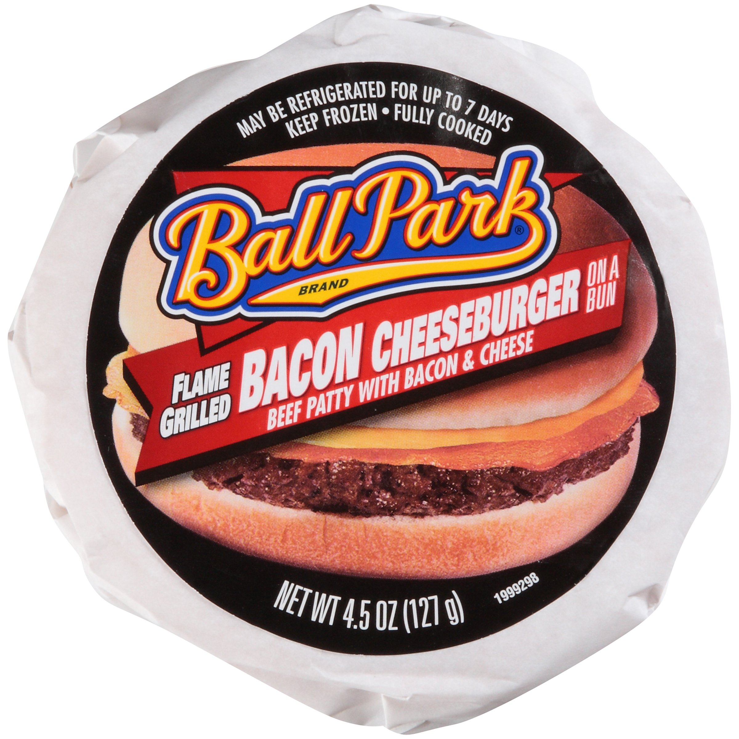 Ball Park Bacon Cheeseburger Sandwich 4.5 oz-Pack of 12 by Ball Park