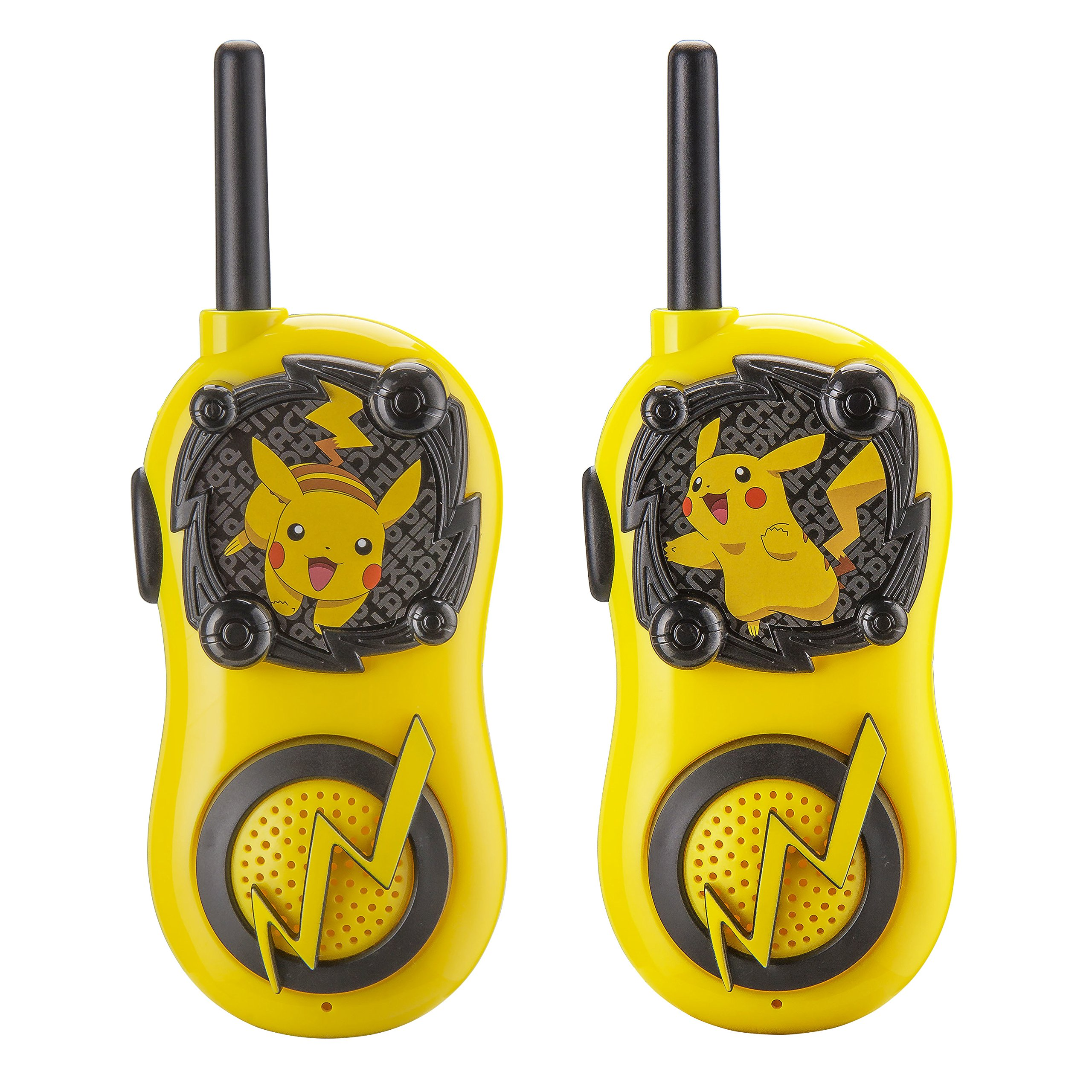 Pokemon Pikachu FRS Walkie Talkies for Kids Long Range Static Free Kid Friendly Easy to Use 2 Way Walkie Talkies