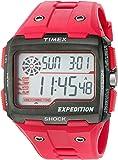Timex Expédition Hommes de choc Grille de quartz Montre de camping en résine, couleur: rouge (modèle: tw4b039009j)